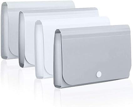 2 paquetes de colores aleatorios 13 bolsillos Mini archivador expandible A6 acordeón carteras organizador de documentos caja Ticket carpeta con botón de presión: Amazon.es: Oficina y papelería