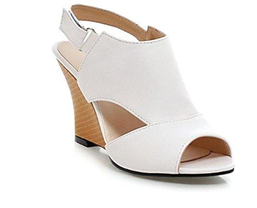 34 41 De 34 Pescado 41 8cm Compras White Boca Blanco Xie roma Mujer zapatos fiesta Poe Sandalias pFPqqwT