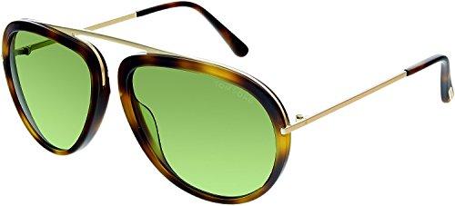 Tom Ford Stacy FT0452 Sunglasses - 56N Havana/Green Lens - - Tom Usa Ford