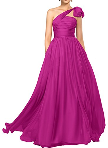 abito spalla ressing sposa Fuchsie Donna lungo Elegant di sera abito Prom ivyd da una abito a da vestito Fest linea I1OZfdWxwq