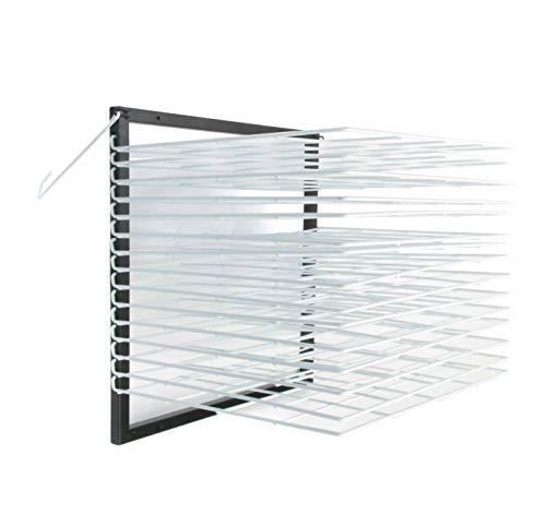 American Educational Products A-C1160 Robo Wall Mounted Drying Rack, 15 Shelf, 7