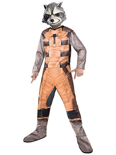 Rubies Guardians of The Galaxy Rocket Raccoon Costume, Child Small - Adult Rocket Raccoon Gloves