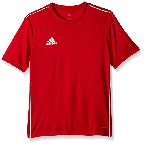 adidas Kids Youth Soccer core18 Training Jersey, Power Red/White, Large