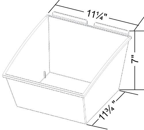 New Retail Clear finish Medium Popbox 11.25''W x 11.75''D x 7''H