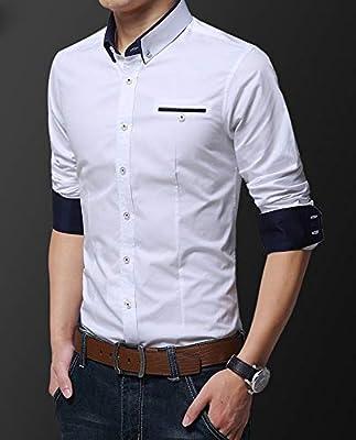 FFyy F Camisa de Manga Larga para Hombre Camisa de Manga Larga ...