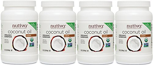 Nutiva Organic Virgin Coconut Oil, (60 Organic Fluid Ounces) (15 Ounce (Pack of 4))