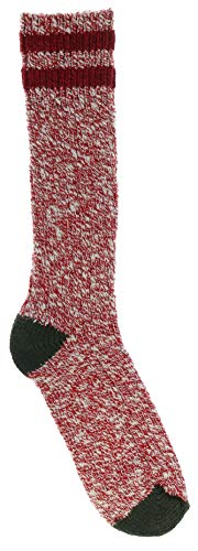 (Woolrich Women's Plus Size Cotton Camp Socks, USA Made (Stop Sign Red & Army Green))
