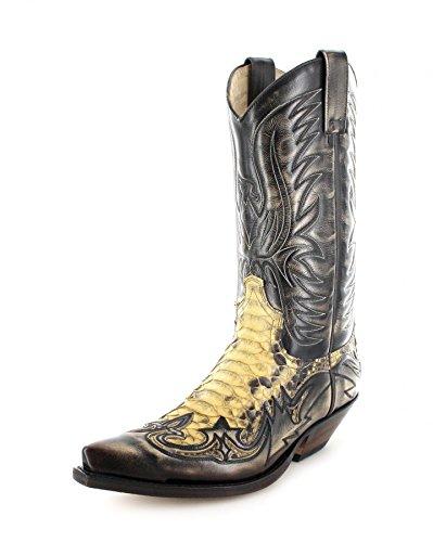 Sendra Boots3241 - Botas De Vaquero Unisex adulto Marrón - Tierra Pyton Panizo
