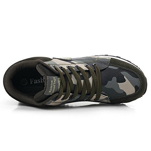 Giy Mujeres High Wedge Platform Platform Sneakers Camo Sports Round Toe Altura AuHombrestada Hidden Heel Zapatos Camo