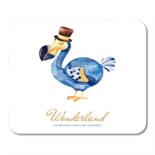 f3eebba1b Semtomn Gaming Mouse Pad Wonderland Collection Lovely Watercolor Cute Dodo  Bird Cylinder Hat 9.5