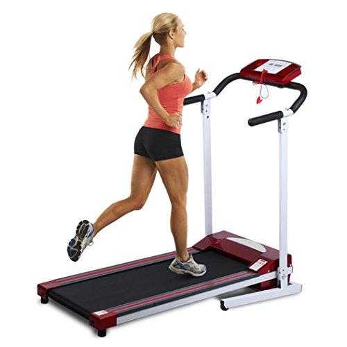 Ancheer Elektrisches Laufband Fitnessgerät Klappbarer Heimtrainer mit LCD-Display 120 kg Belastung