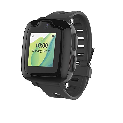 Smart Watch Phone for Kids - Ultimate 3G Smartwatch with GPS Tracker, Touchscreen, Camera, Touch SOS Remote Alarm, Fitness Trackers, Waterproof Cell Phone Watches for Girls Boys by myFirst Fone-Black