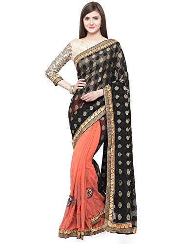 Retails Shaily Indian Handicrfats Saree Embroidered Georgette Export nkshita22307ssr1t brown Brown RBctcpT
