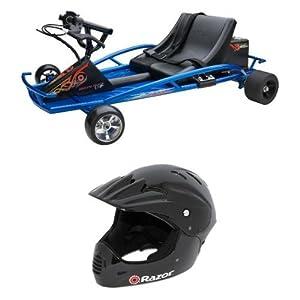 Razor Ground Force Drifter Kart and Razor Full Face Youth Helmet