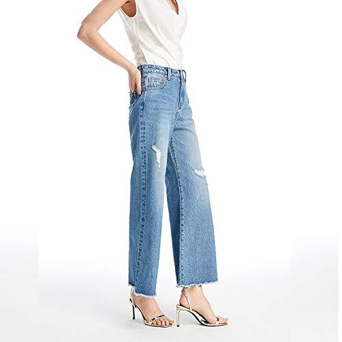 Beinhosen und Taille Mode S Hohe breite Jeans Femme chern losen L MVGUIHZPO xwqSOF