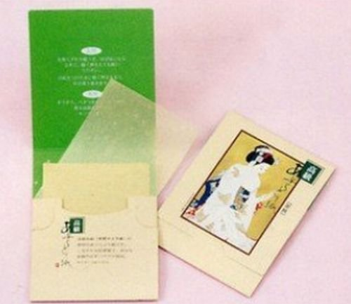 Japanese Premium Oil Blotting Paper 200 Sheets (B), Large 10cm x7cm,Pack of 4 maiko b0002-0129