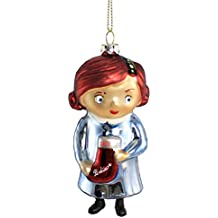 Macy's Yes Virginia 2012 Glass Christmas Ornament with Believe Stocking