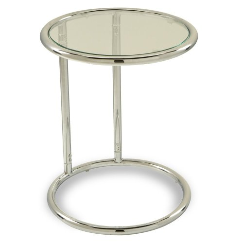 round chrome coffee table - 3