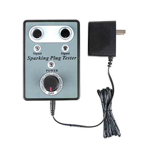 BELEY Dual Hole Car Spark Plug Tester Ignition Plug System Analyzer Diagnostic Tool Detector for 12V Gasoline Vehicle Spark Plugs