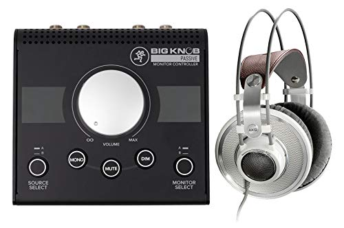 AKG K701 Premium Open-Back Studio Reference Monitor Headphones+Mackie Big Knob