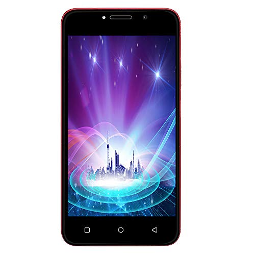 5.0 Inch Smart Phone Unlocked 3G LTE Android 7.0 Cell Phone Dual Cameras Smartphone Dual SIM 4GB WiFi 5MP AT&T (Red)