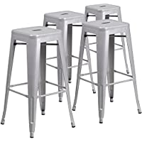 Flash Furniture 4-CH-31320-30-SIL-GG Metal Indoor-Outdoor...