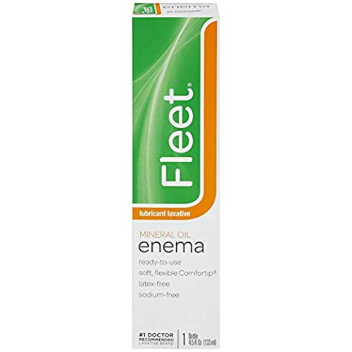 Fleet Lubricant Laxative Mineral Oil Enema | 4.5 oz | Pack of 12 | Fast Constipation Relief in Minutes