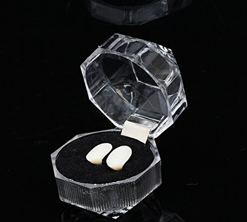 3 Pairs Vampire Halloween Fasle Teeth Fangs Dentures Cosplay Props Halloween Costume Props Party Favors (15 mm)]()