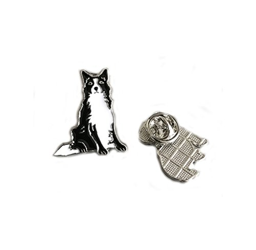 - Pet Brooch, Lovely Dogs ID Tag Brooch Pins Dog Corsage Jewelry Metal Badge Brooch Holiday Christmas Birthday Gift 2PCS (Black Border Collie)