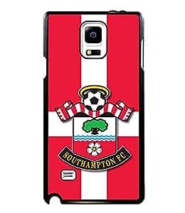Football Logo Theme Samsung Galaxy Note 4 Case Southampton F.C. Print Design Phone Cover Cases Design For Boys