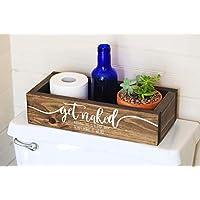 Toilet Paper Holder - Get Naked Sign - Funny Bathroom Humor- Bathroom Decor