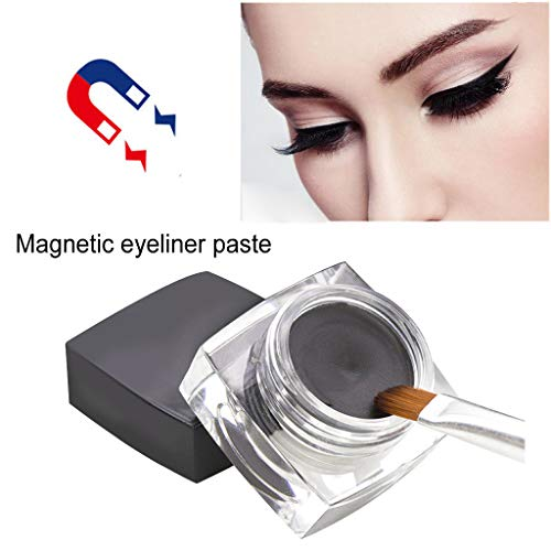 Magnetic liquid Eyeliner with Magnetic False Eyelashes Easy to Wear Lashes Kit D Beginer ()