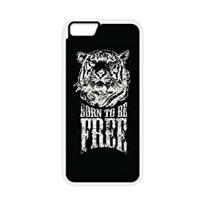 iPhone 6 4.7 Inch Cell Phone Case White quotes born to be free Gowoa