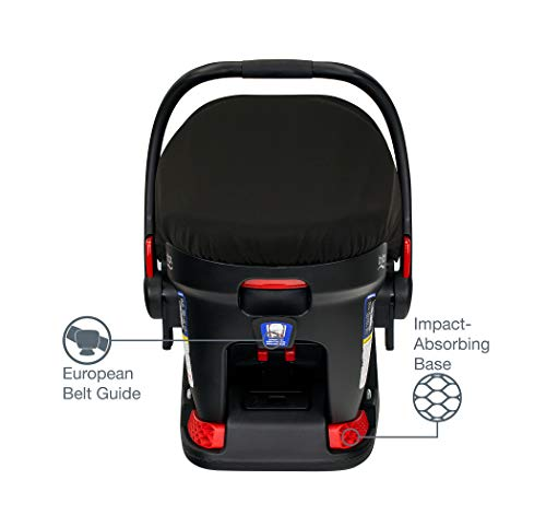 41l6ALjJnLL - Britax B-Free Travel System With B-Safe Ultra Infant Car Seat - Birth To 65 Pounds | All Terrain Tires + Adjustable Handlebar + Extra Storage With Front Access + One Hand, Easy Fold, Vibe