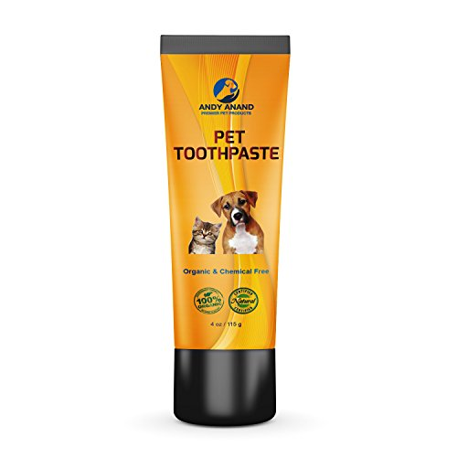 Andy Anand's 100% Natural Organic Chemical Free Pet Toothpaste, Fight Plaque and Freshens Breath, For Dog and Cat