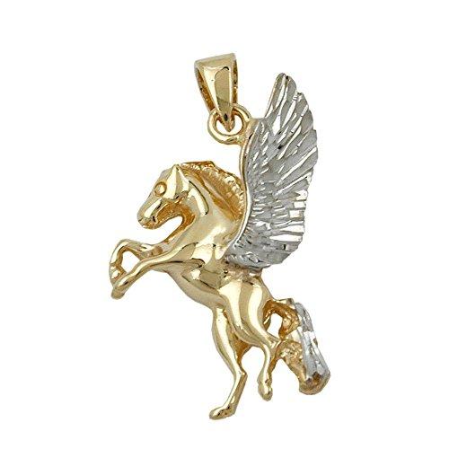 Pendentif Or, cheval avec ailes, 9carats