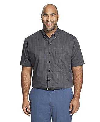 Van Heusen Men's Big and Tall Flex Stretch Short Sleeve Non Iron Shirt