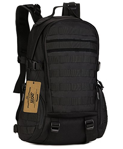 35L MOLLE Backpack Military Army Backpack for Outdoor Sports camping hiking Traveling and Trekking Black