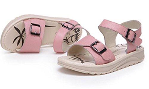 3cm Embarazadas Colores Sandalias Bottom Pink Compras Pink 39 De Trabajo Thick Verano Escuela Estudiantes 36 Mujeres Poe Xie Flat Tres ZgFz1qz6