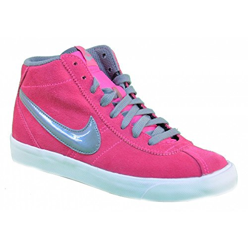 Nike - Nike Bruin Mid (GS) Zapatos Deportivos Mujer Fucsia Alto Cuero 577864 Fucsia/Grigio