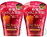 Tsubaki Extra Moist Red Refill Pack 345ml - Pack of 2 (Shampoo & Conditioner)