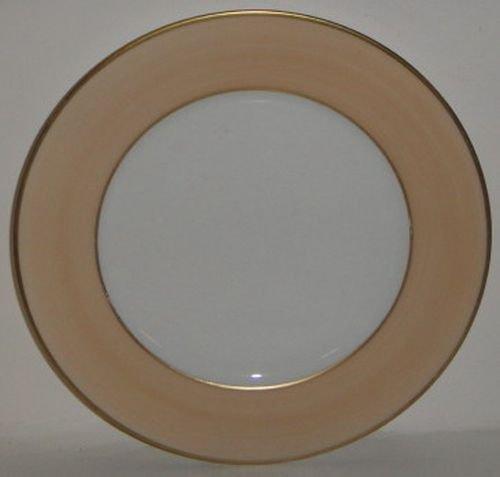 Limoges Jammet Seignolles Diplomate Ivory Peach Dessert Plate
