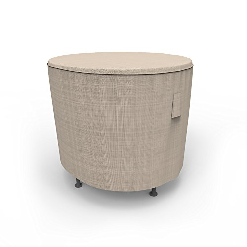 Budge English Garden Round Patio Table Cover, Extra Small (Tan Tweed) (Round Cover Side Table)