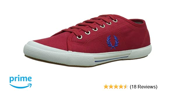 Amazon.com  Fred Perry Men s Vintage Tennis Canvas Fashion Sneaker ... d731d7ce8cc