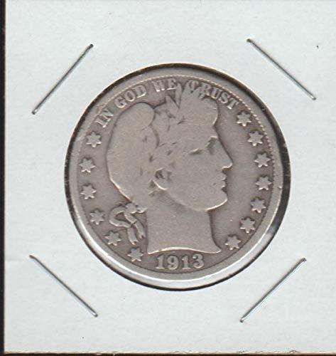 (1913 D Barber or Liberty Head (1892-1915) Half Dollar Very Good +)