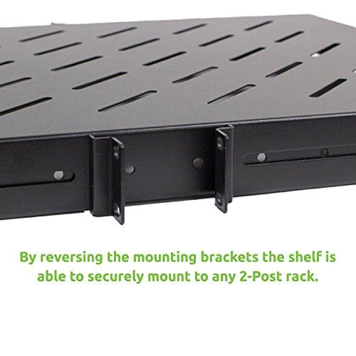 Phenomenal Navepoint 1U 19 Inch Fixed 4 Post Rack Mount Server Shelf Home Interior And Landscaping Dextoversignezvosmurscom