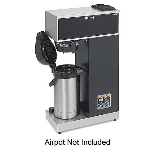 BUNN - Airpot Coffee Brewer, Brews 3.8gal, Stainless Steel w/Black Accents VPR-APS (DMi EA