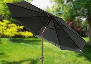 9 39 Crank Tilt Market Umbrella Forest