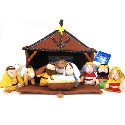 Plush Nativity 11 Piece Play Set