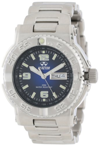 REACTOR Men's 74603 Critical Mass Degrading Blue Dial Stainless Steel Watch
